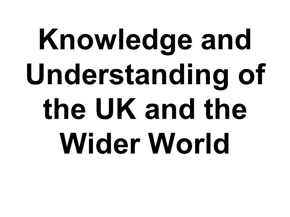Knowledge and Understanding of the UK and the Wider World