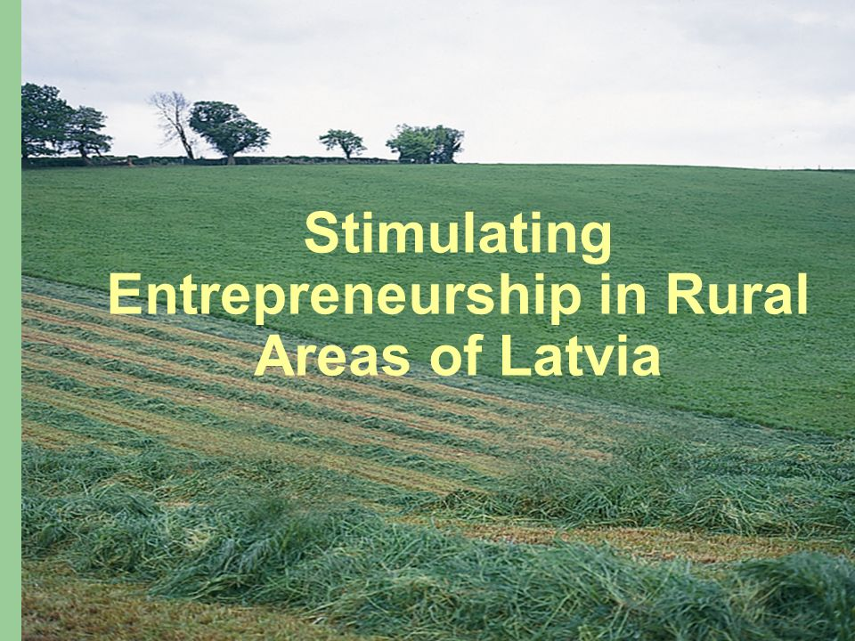 Stimulating Entrepreneurship in Rural Areas of Latvia
