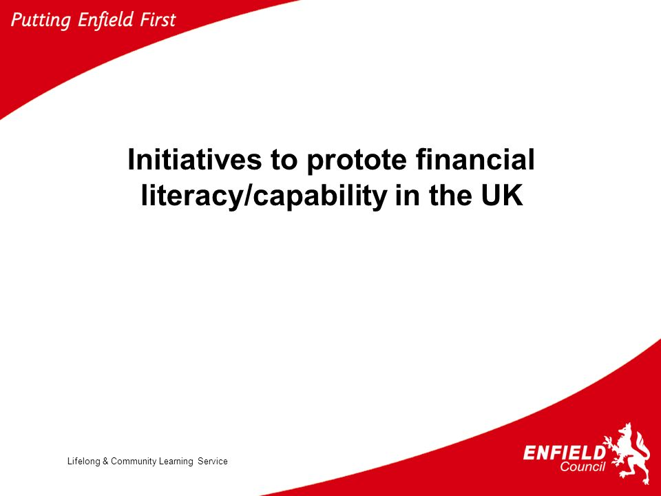 Lifelong & Community Learning Service Initiatives to protote financial literacy/capability in the UK
