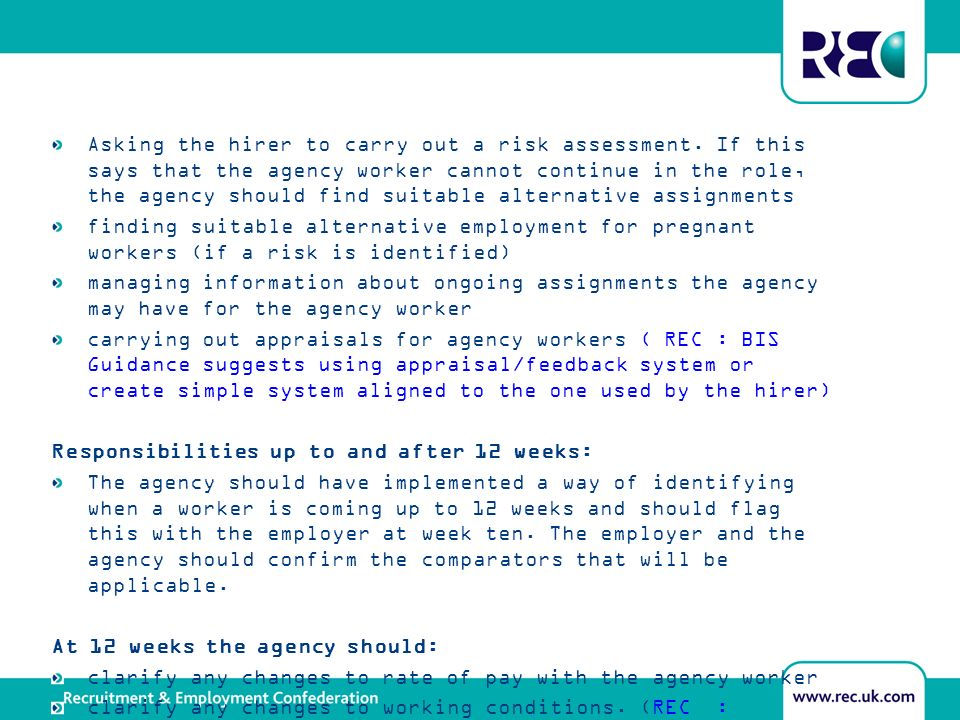 Asking the hirer to carry out a risk assessment.