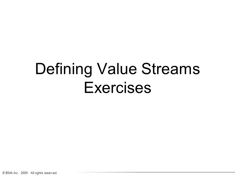 Defining Value Streams Exercises