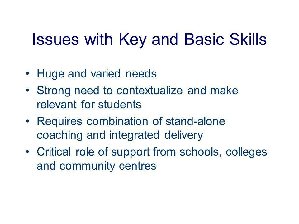 The Challenge Deploying e-learning to support Key and Basic Skills …what works best and why