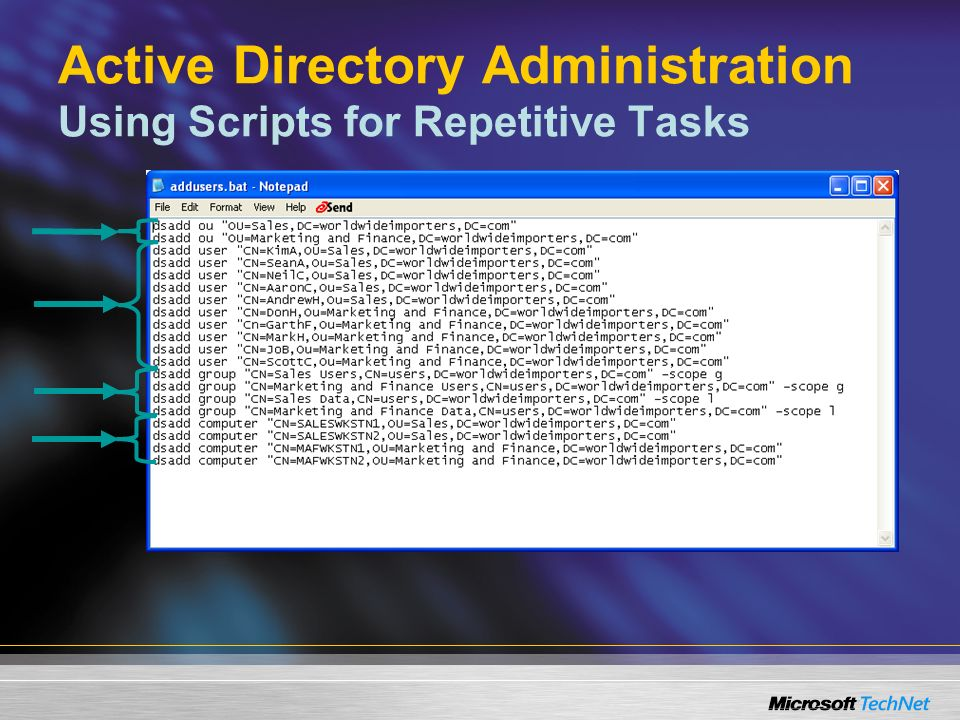 Active Directory Administration Using Scripts for Repetitive Tasks