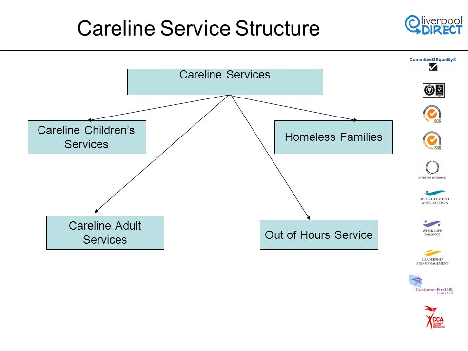 Careline Service Structure Careline Services Homeless Families Careline Childrens Services Out of Hours Service Careline Adult Services