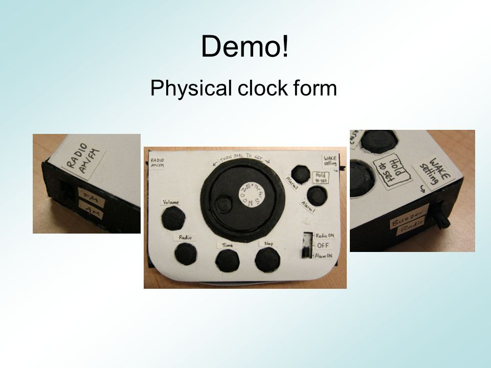 Demo! Physical clock form