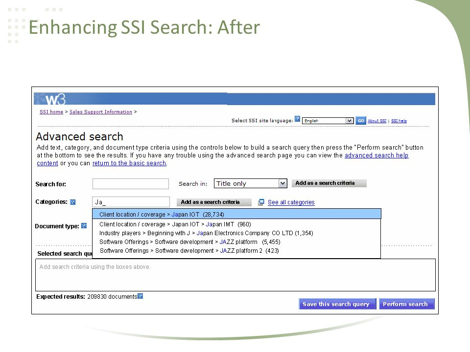 Enhancing SSI Search: After