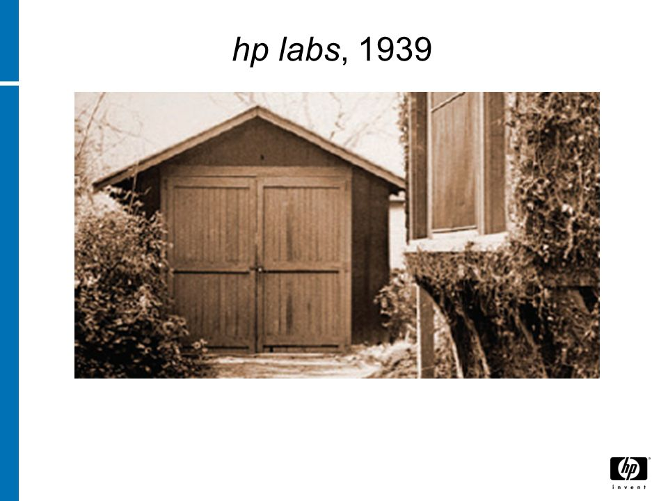 hp labs, 1939