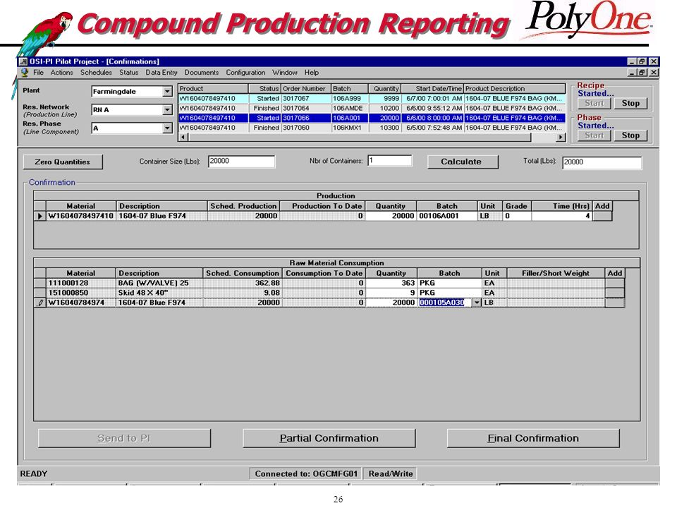 26 Compound Production Reporting