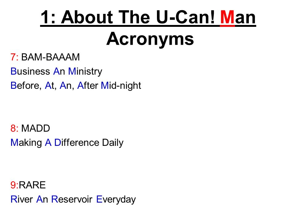 1: About The U-Can.