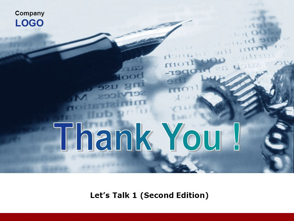 Company LOGO Lets Talk 1 (Second Edition)