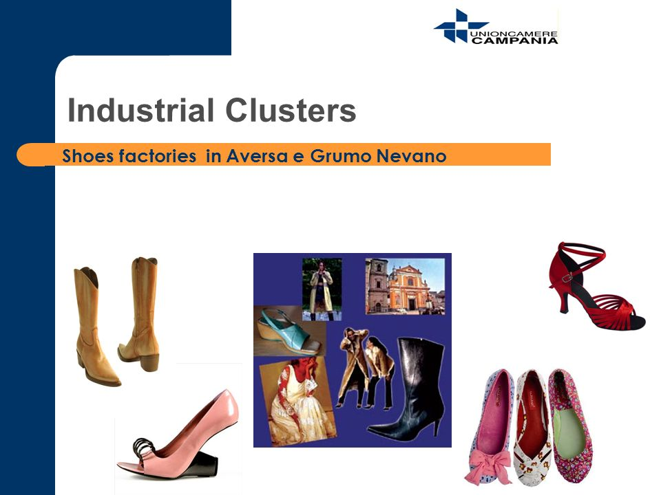 Shoes factories in Aversa e Grumo Nevano Industrial Clusters