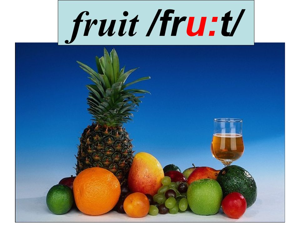 fruit /fru:t/