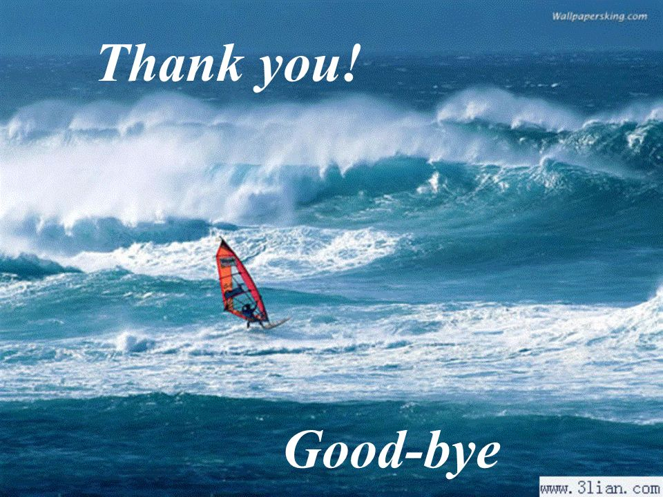 Thank you! Good-bye