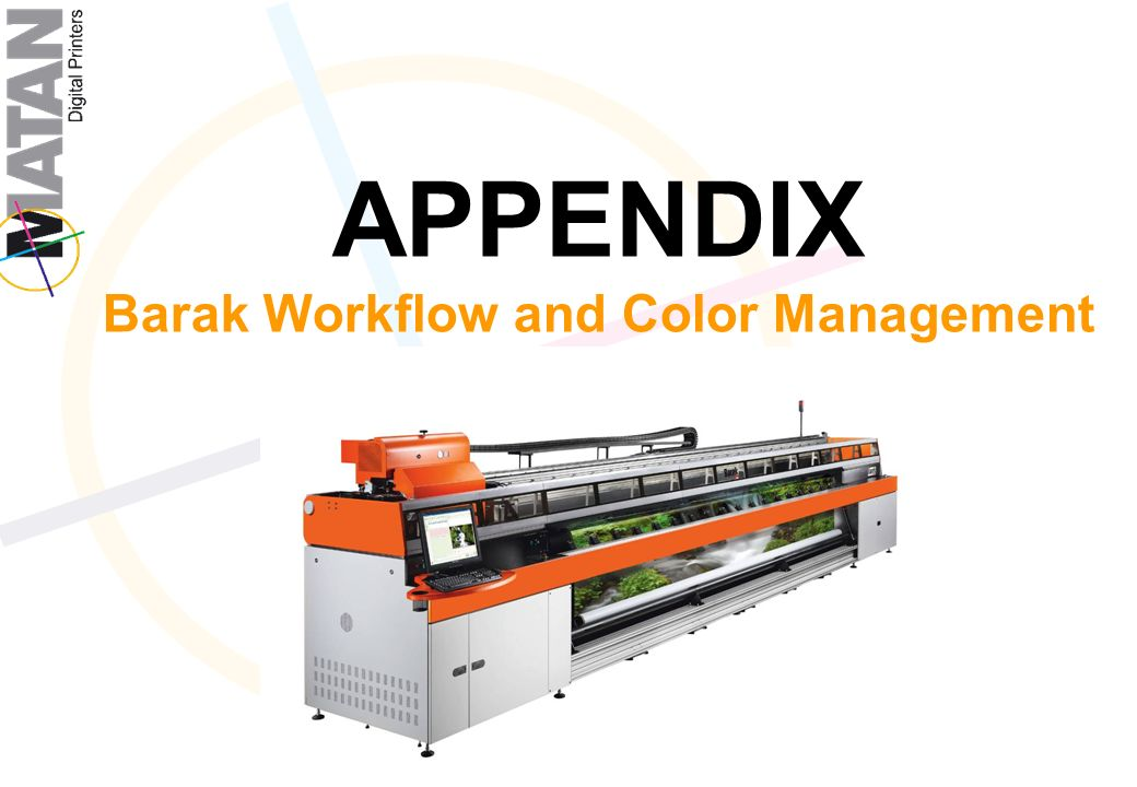 APPENDIX Barak Workflow and Color Management