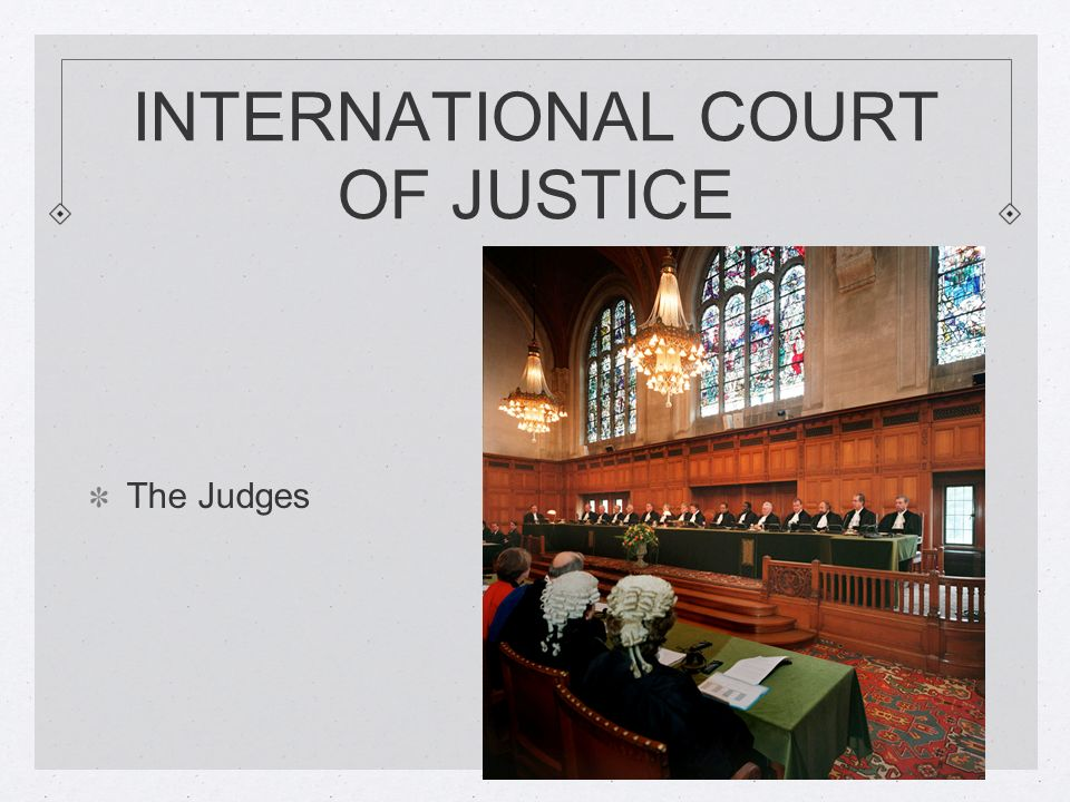 INTERNATIONAL COURT OF JUSTICE The Judges
