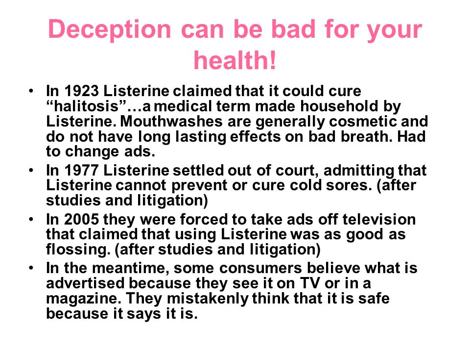 Deception can be bad for your health.
