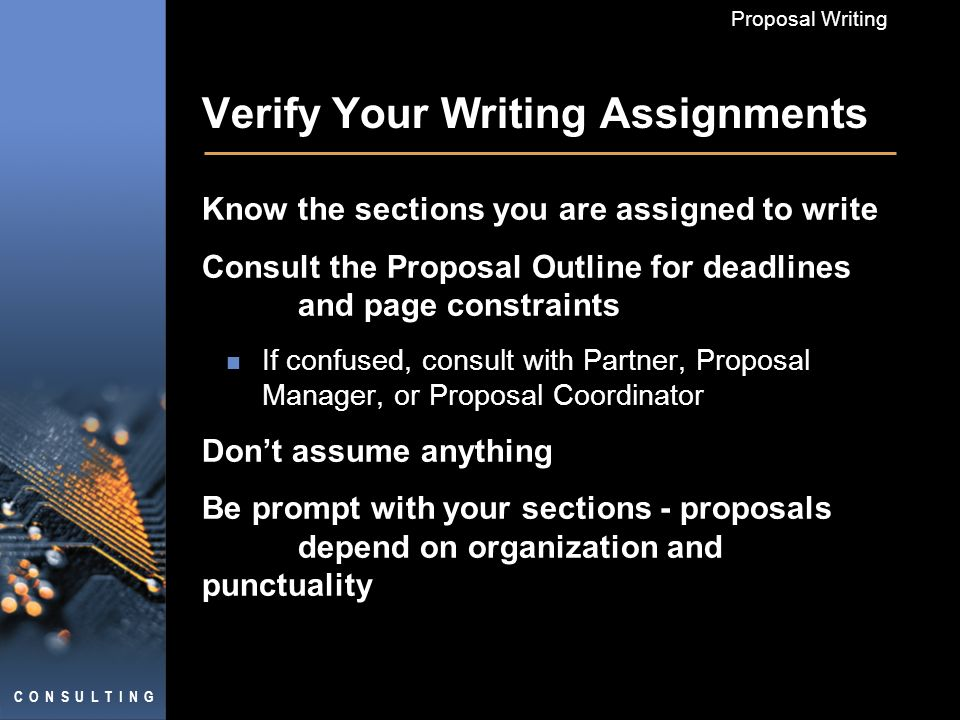 creating effective proposals proposal writing general rules