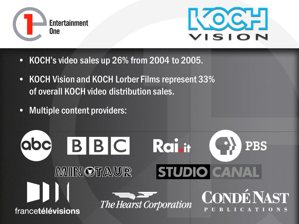 KOCHs video sales up 26% from 2004 to 2005.