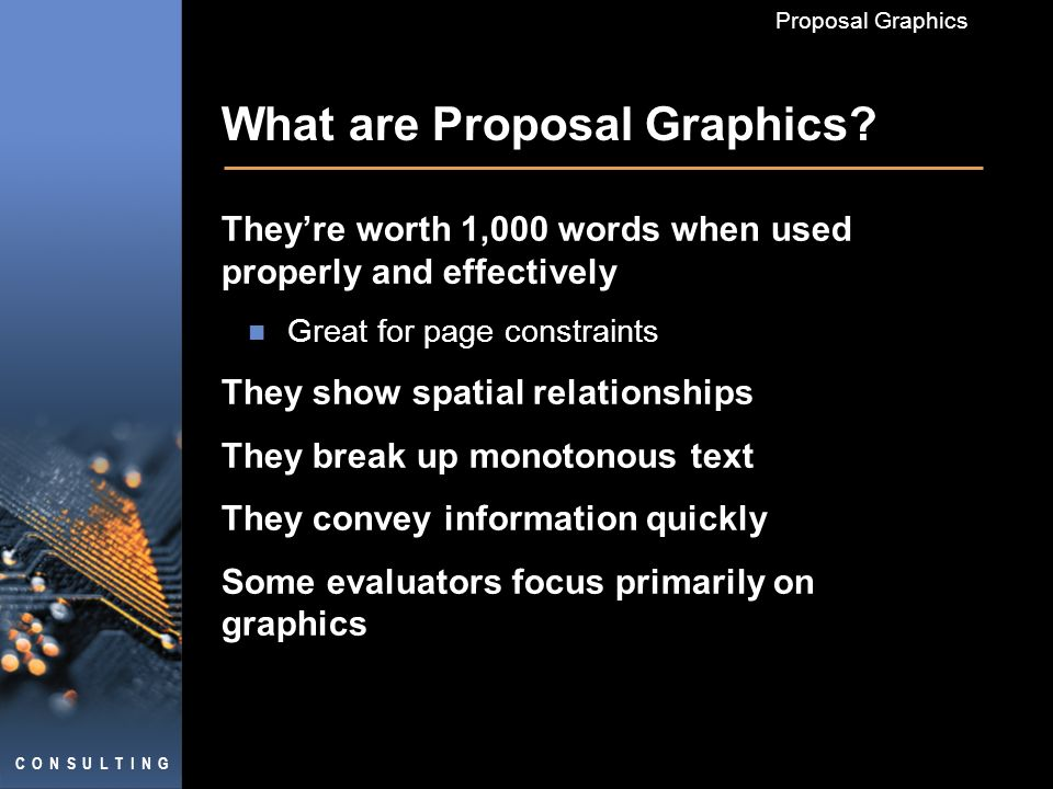 Proposal Graphics What are Proposal Graphics.