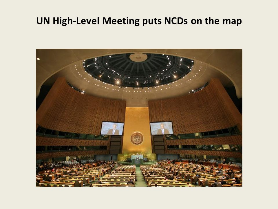 UN High-Level Meeting puts NCDs on the map