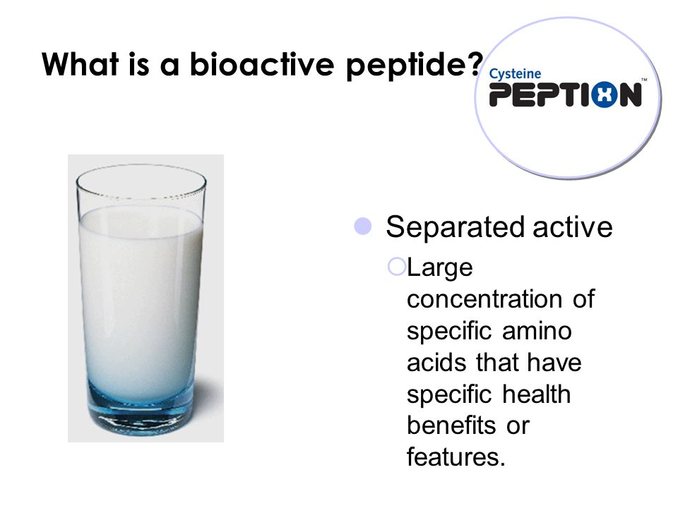 What is a bioactive peptide.
