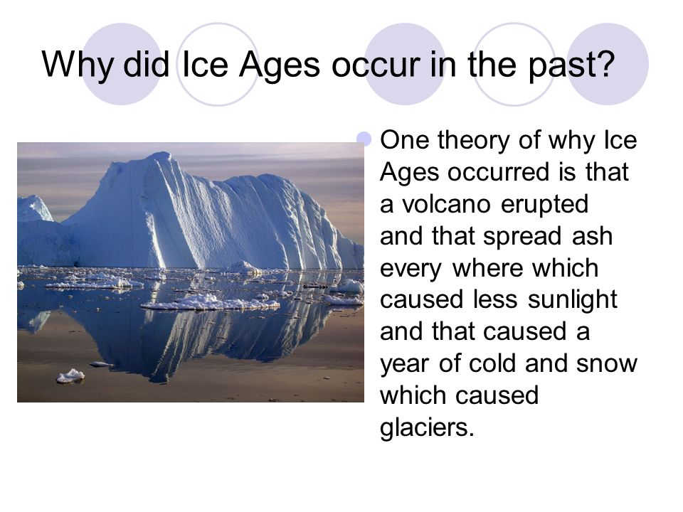 Why did Ice Ages occur in the past.