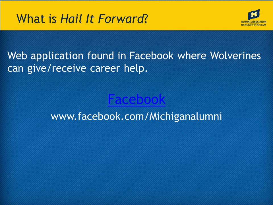 What is Hail It Forward.