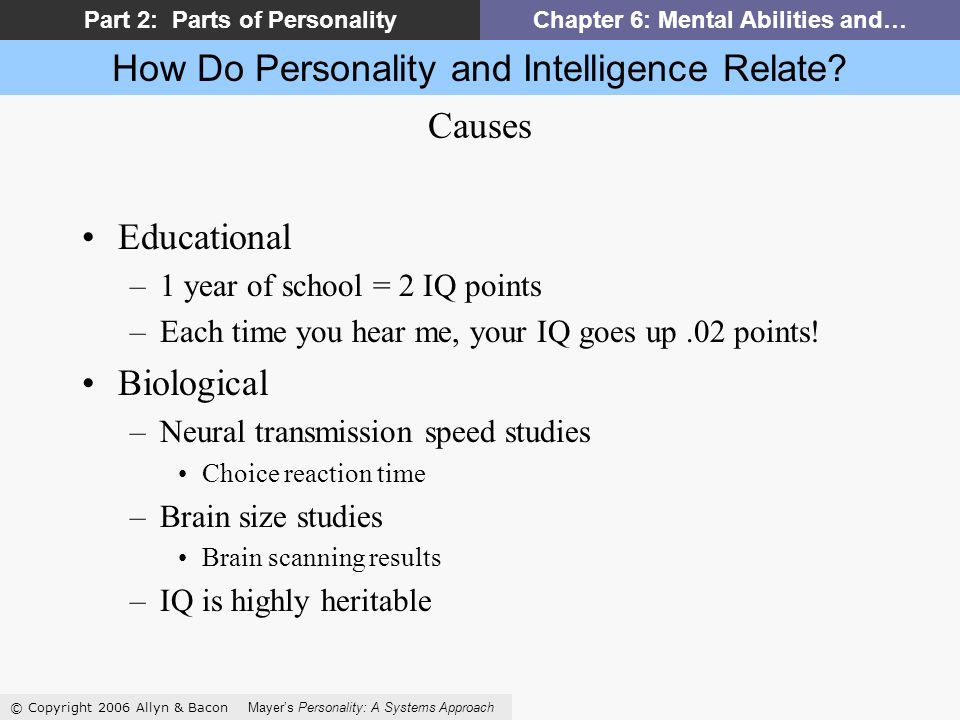How Do Personality and Intelligence Relate.