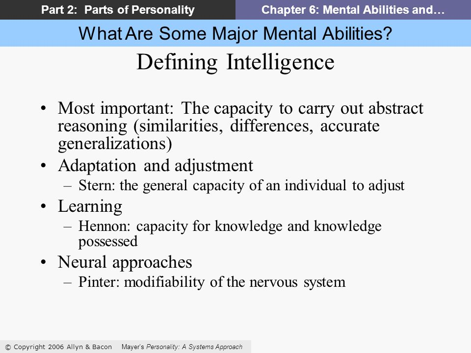 What Are Some Major Mental Abilities.