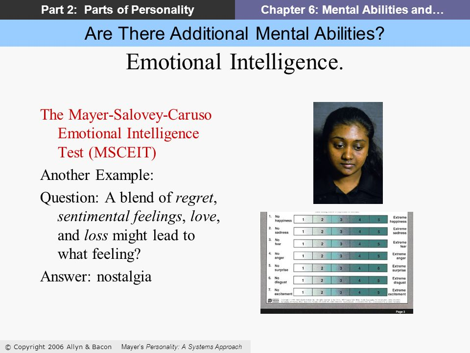 Are There Additional Mental Abilities.