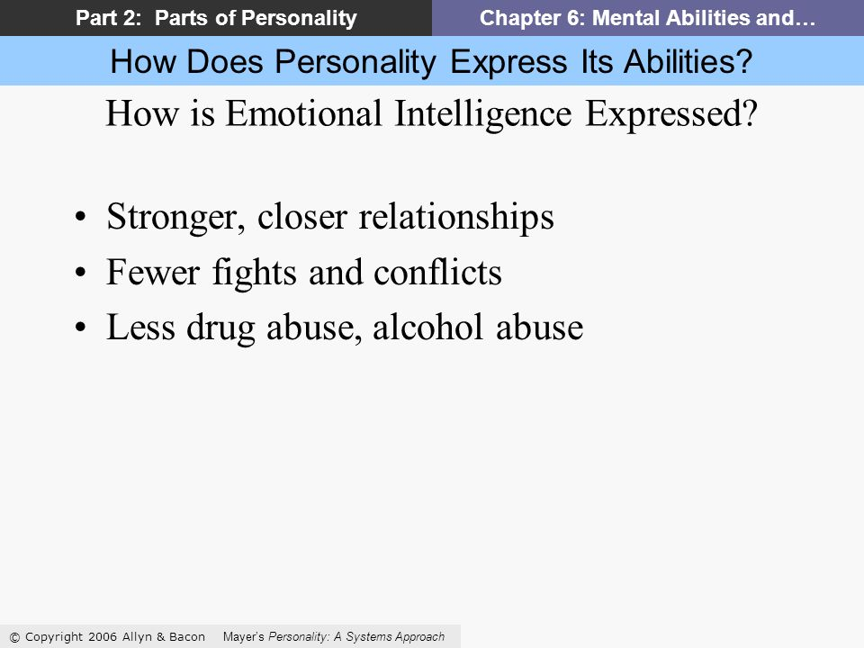 How Does Personality Express Its Abilities.