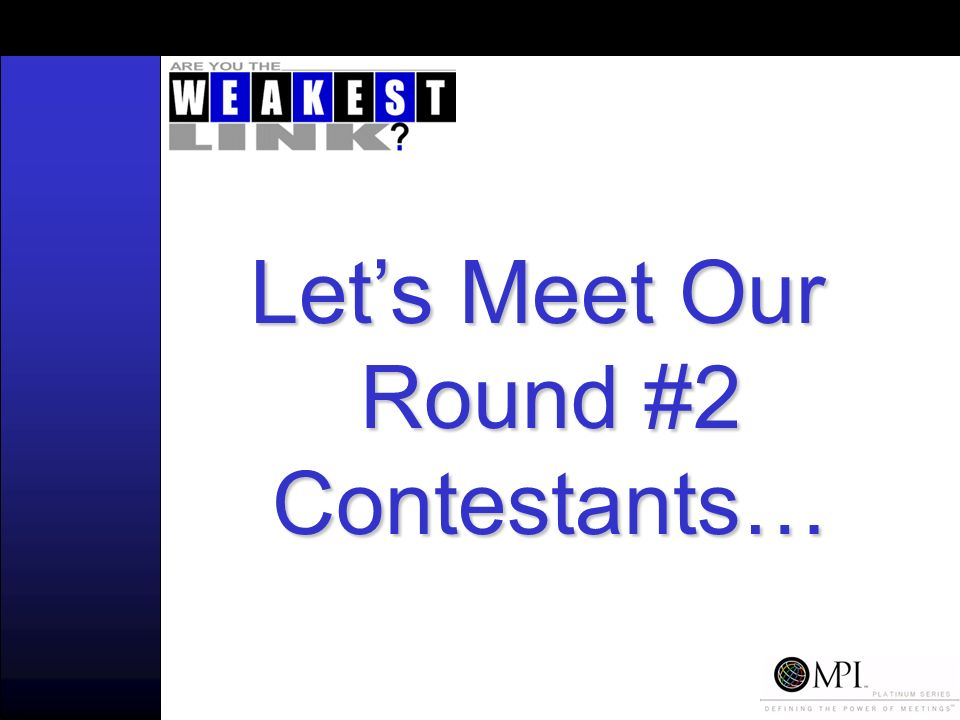 Lets Meet Our Round #2 Contestants…