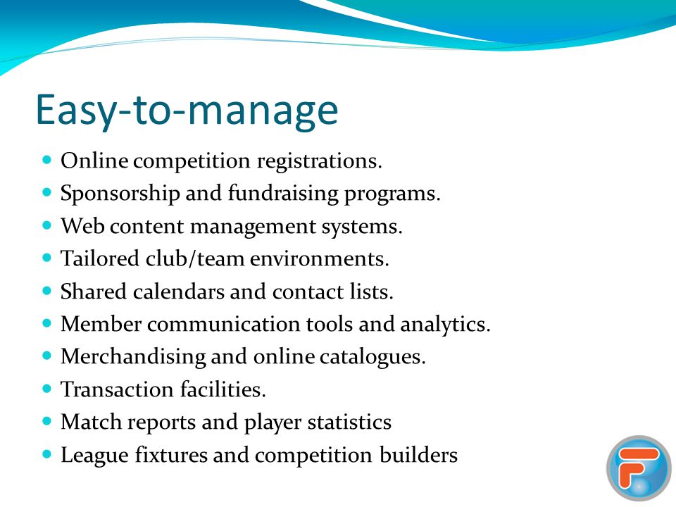 Easy-to-manage Online competition registrations. Sponsorship and fundraising programs.