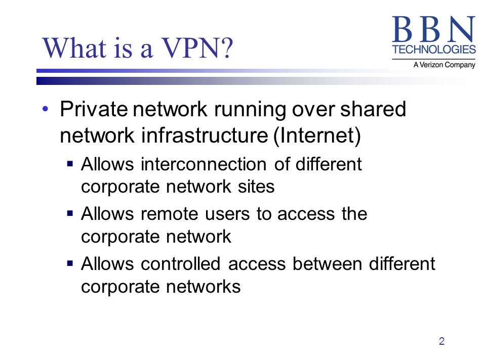 2 What is a VPN.