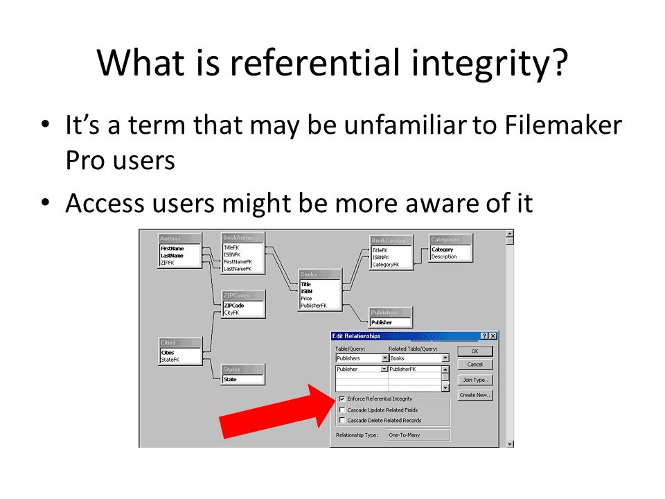 What is referential integrity.
