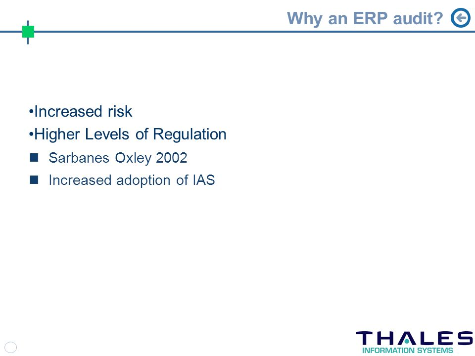 Why an ERP audit.