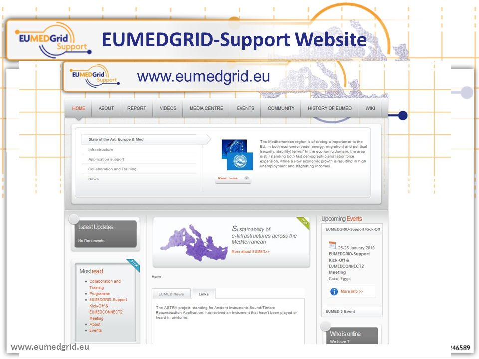 EUMEDGRID-Support Website