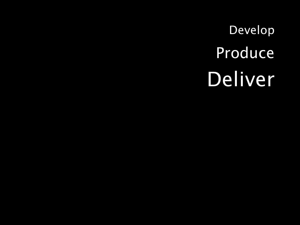 Develop Produce Deliver