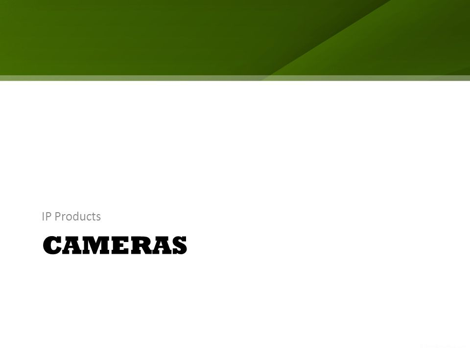 CAMERAS IP Products
