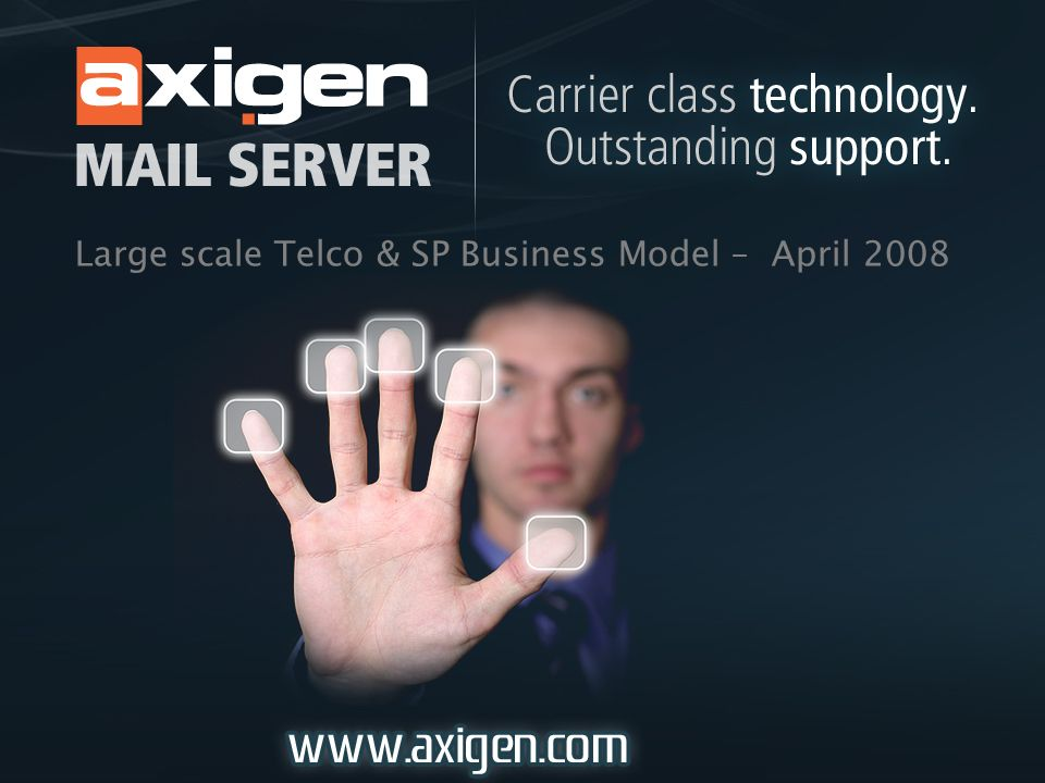 Large scale Telco & SP Business Model – April 2008