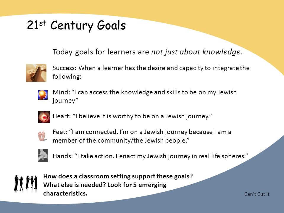 Cant Cut It 21 st Century Goals Today goals for learners are not just about knowledge.