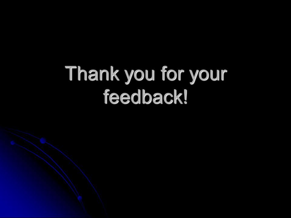 Thank you for your feedback!
