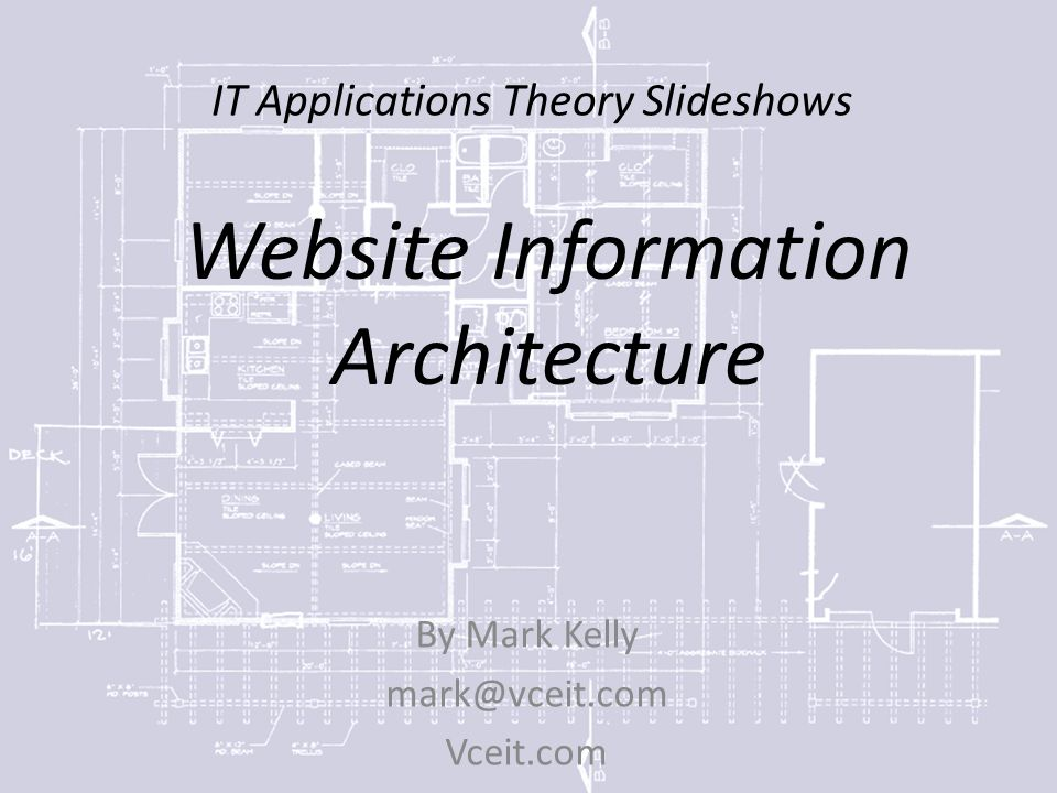 IT Applications Theory Slideshows By Mark Kelly Vceit.com Website Information Architecture
