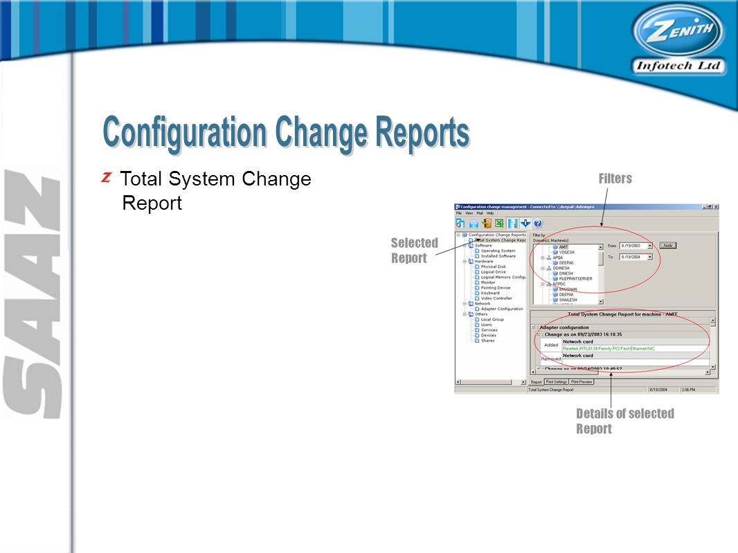Total System Change Report