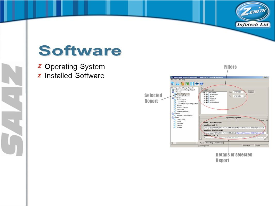 Operating System Installed Software