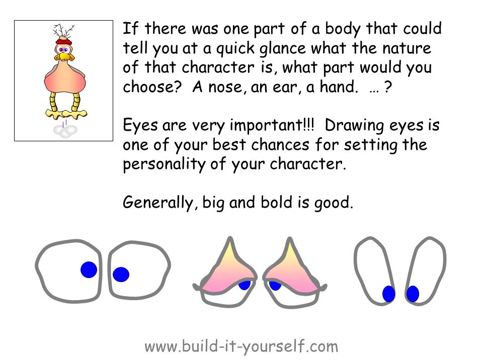 www.build-it-yourself.com If there was one part of a body that could tell you at a quick glance what the nature of that character is, what part would you choose.