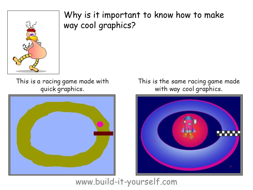 www.build-it-yourself.com Why is it important to know how to make way cool graphics.