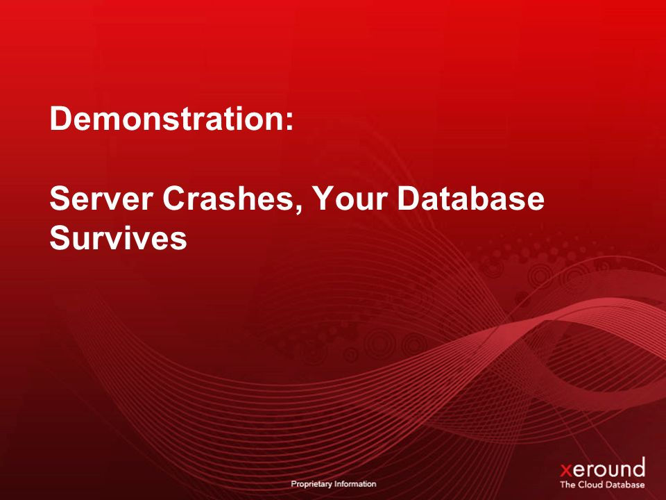 Demonstration: Server Crashes, Your Database Survives