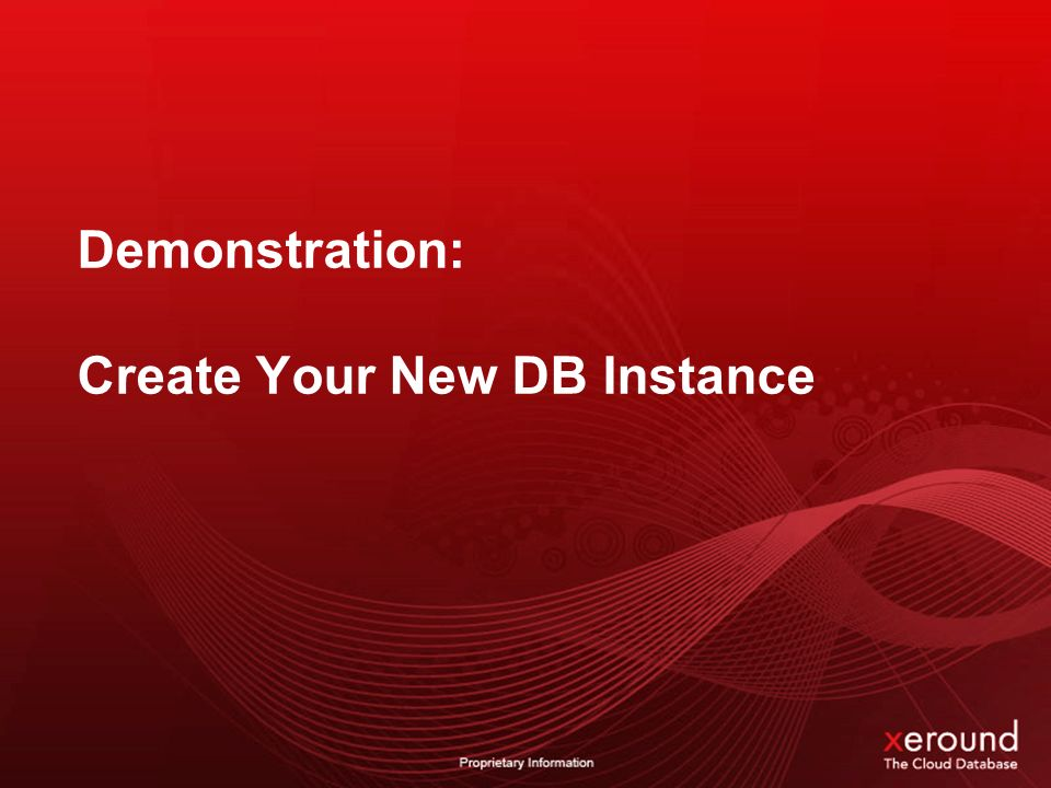 Demonstration: Create Your New DB Instance