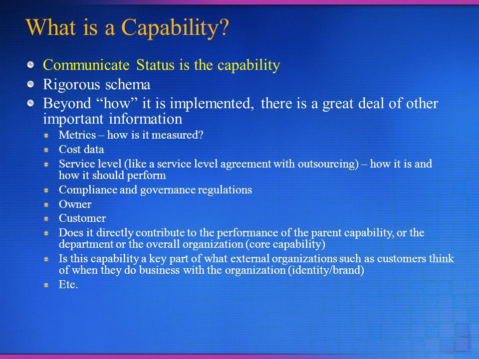 What is a Capability.